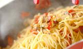 ベイクドトマトとアサリのスパゲティの作り方5
