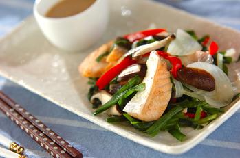 鮭と色々野菜のレンジ蒸し