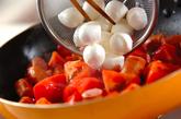 ソーセージとトマトの炒め物の作り方1