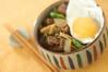 スジ肉煮込み丼の作り方の手順