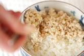 鶏そぼろ丼の作り方7