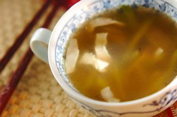 ザーサイとキュウリのスープ