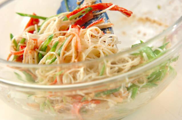 サッパリ素麺サラダの作り方の手順6