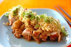 揚げ鶏ネギまみれ(油淋鶏風)