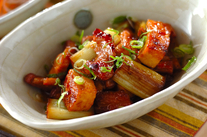 豚肉と白ネギの甘辛炒め煮