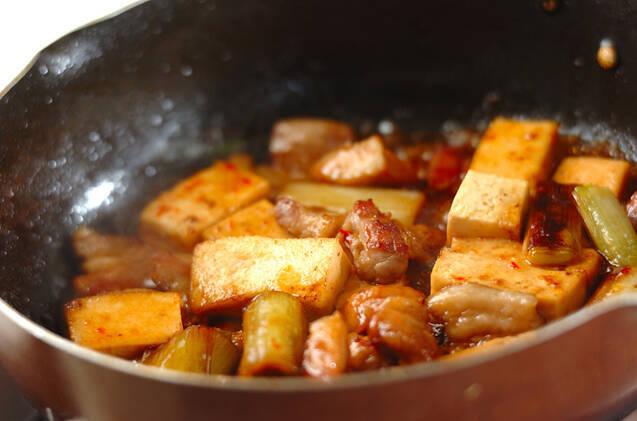 豚肉と白ネギの甘辛炒め煮の作り方の手順5