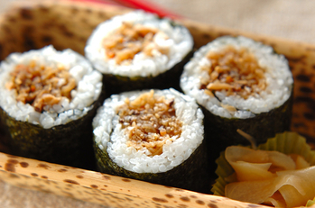 切干し大根の煮物巻き寿司
