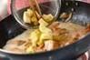 鮭入りカルボナーラの作り方の手順8