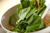 小松菜と卵の炒め物の作り方2