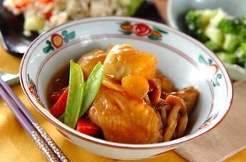 エビ芋と手羽の煮物