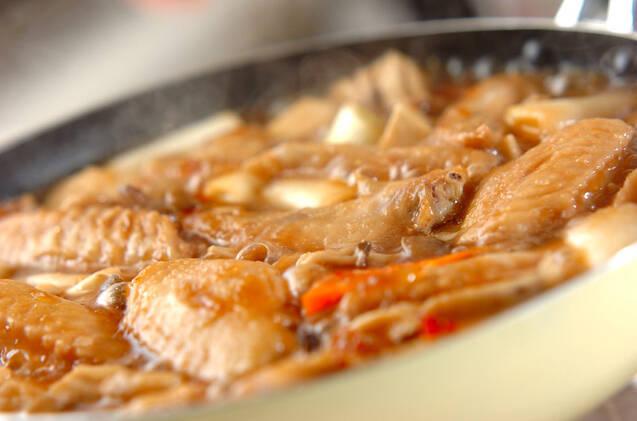 エビ芋と手羽の煮物の作り方の手順9