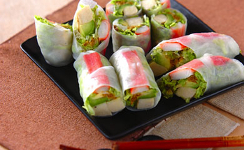 高野豆腐の生春巻き