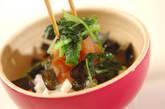 刻み長芋の明太子のせの作り方5