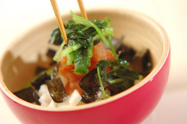 刻み長芋の明太子のせの作り方の手順5