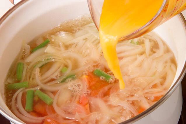 トマトと卵のスープの作り方の手順6