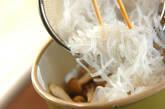 サヤインゲンとしらたきの炒め煮の作り方2