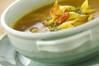 キャベツのカレースープの作り方の手順