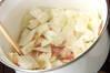 キャベツのカレースープの作り方の手順1