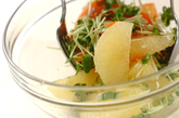 グレープフルーツとサーモンのマリネの作り方2