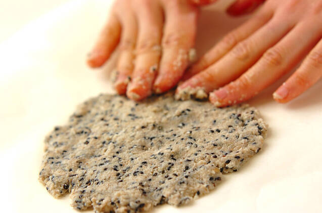 黒ゴマハチミツのおからクッキー☆の作り方の手順5