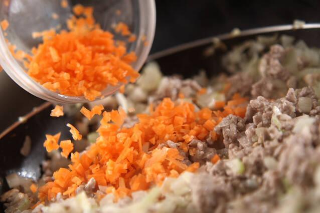 とろーり温泉卵のせミートソース丼の作り方の手順3