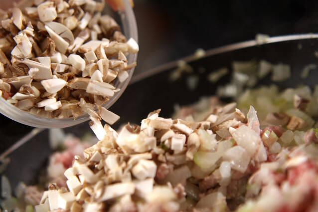 ミートエッグ丼の作り方の手順2