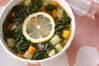 モロヘイヤのスープの作り方の手順