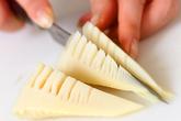 温野菜オイスターソースの下準備2