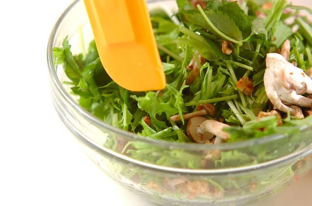 水菜のサラダの作り方の手順4