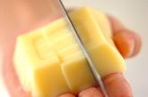 メンマと卵豆腐のスープの下準備1