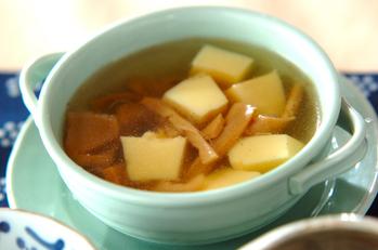 メンマと卵豆腐のスープ