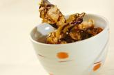 ナスとささ身の香味丼の作り方1