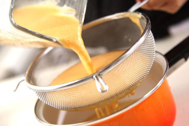 ニンジンの豆乳ポタージュの作り方の手順4