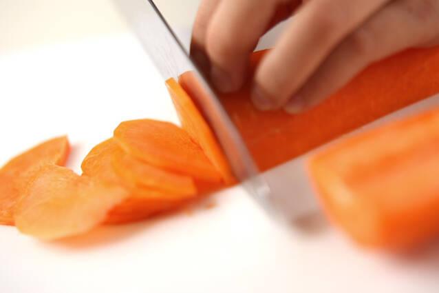 ニンジンの豆乳ポタージュの作り方の手順1