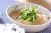 豆乳タラコあんかけの作り方の手順