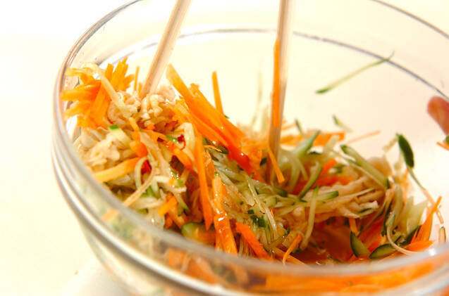 切干し大根のショウガ酢和えの作り方の手順4