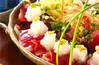 カツオの和サラダの作り方の手順