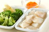 白身魚のチーズフリットの下準備1
