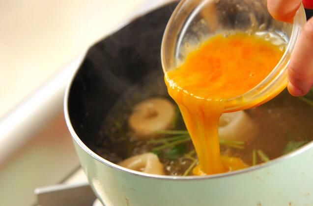 かき玉汁の作り方の手順5