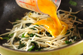 ニラと卵の炒め物の作り方2