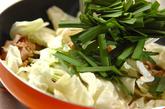 豚ニラ炒めの作り方2