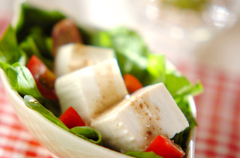 ホウレン草と豆腐のサラダ
