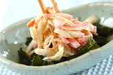カニカマとカマボコのサラダの作り方2