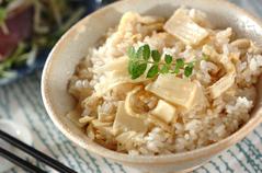 シンプルタケノコご飯