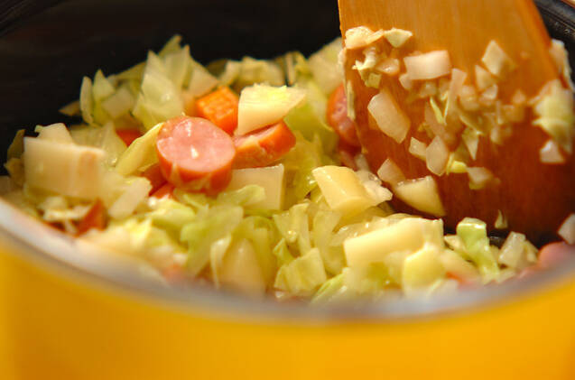 ベジタブルミルクスープの作り方の手順4