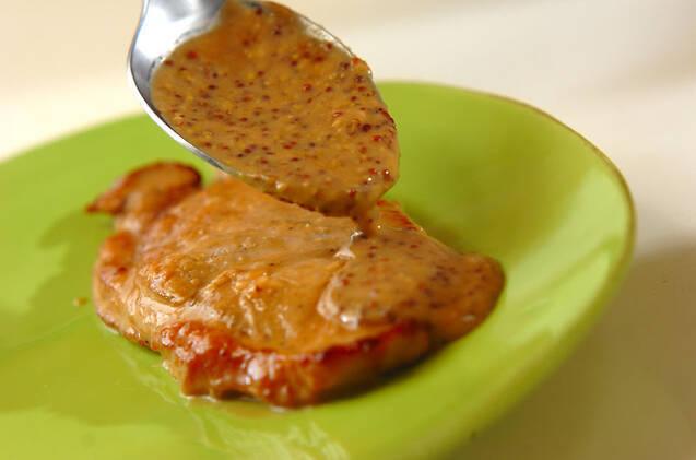 豚肉ソテークリームソースの作り方の手順8