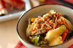 ツナ缶と白菜の煮物