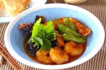 エビと夏野菜の揚げ南蛮
