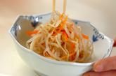 ゆでモヤシの酢の物の作り方2