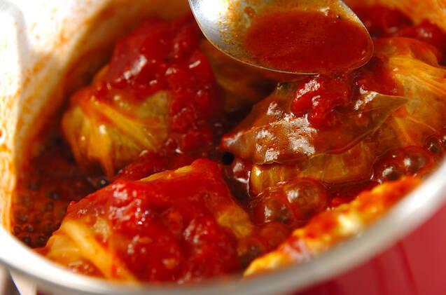 トマト味のロールキャベツの作り方の手順6